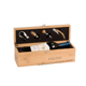 Custom Bamboo/Pinewood Wine Gift Box with Lock for Wine and Wine Tools