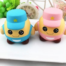 Slow Rising Resin Process Simulation Toys Soldier Bread Cute Lovely Squishy