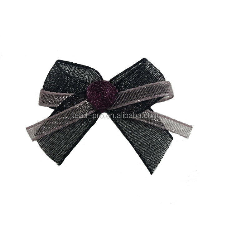 Organza bow with rosette