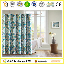 High Quality Luxury Printed 100% Cotton Shower Curtain