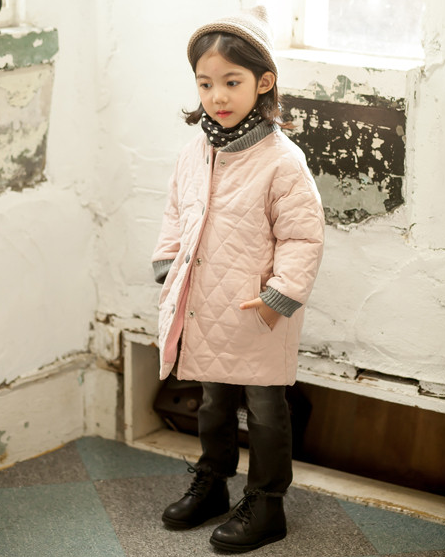 Stock Wholesale Latest Fashion Girls Clothing Children Winter Coats