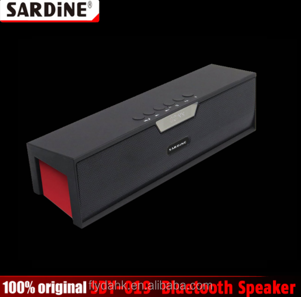 100% Original Sardine SDY-019 Bluetooth Speaker Wireless HIFI Portable Subwoofer Speakers Music Sound Box with FM Radio