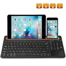 Multi-Channel Universal Slot Keyboard With Touchpad Support iOS/Android/Mac For 7-12 inch Tablet PC/Desktop