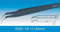 ESD Anti-static Stainless Steel Tweezers ESD-15