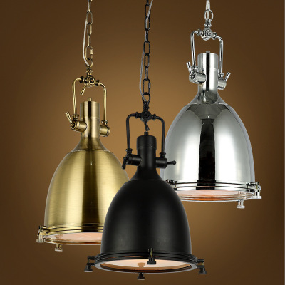 Americana lámpara vintage E27 cobre/cromo colgante Lámparas con ...