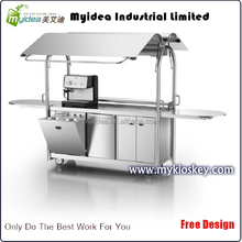Cheap mobile vending coffee cart hot dog cart and crepe cart for sale