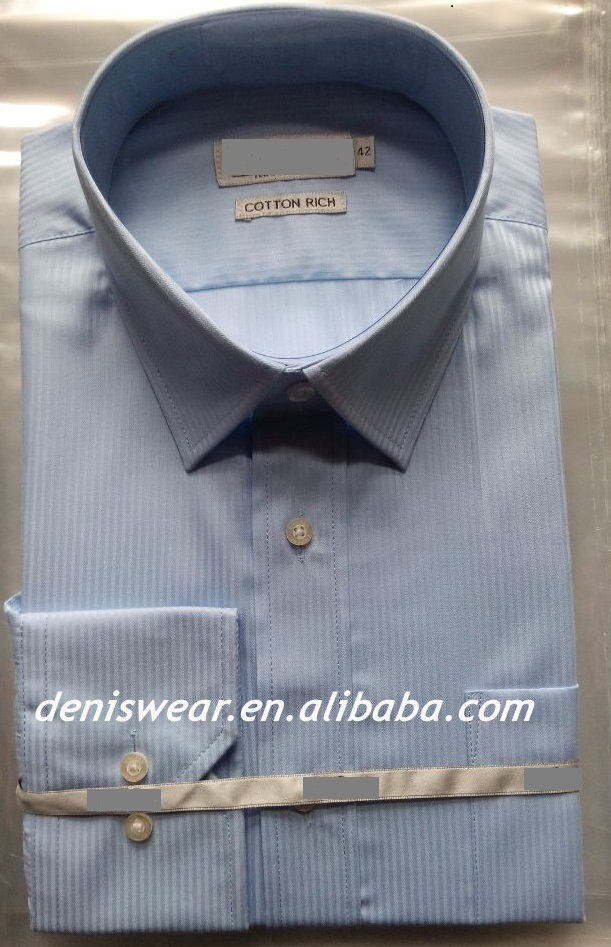 mens shirts single -cuff with pocket 60%cotton 37%polyester 3%spandex