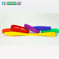 Wristband USB flash memory silicone bracelet usb flash drive