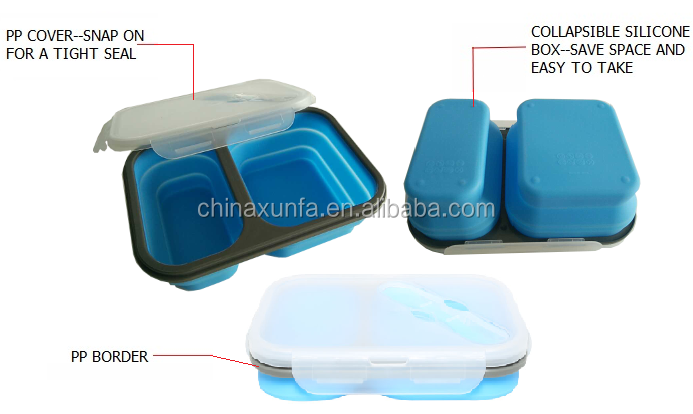 Good quality silicone material takeaway food container