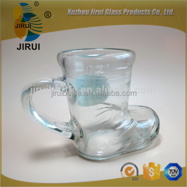 200ml Boot glass beer cup with handle