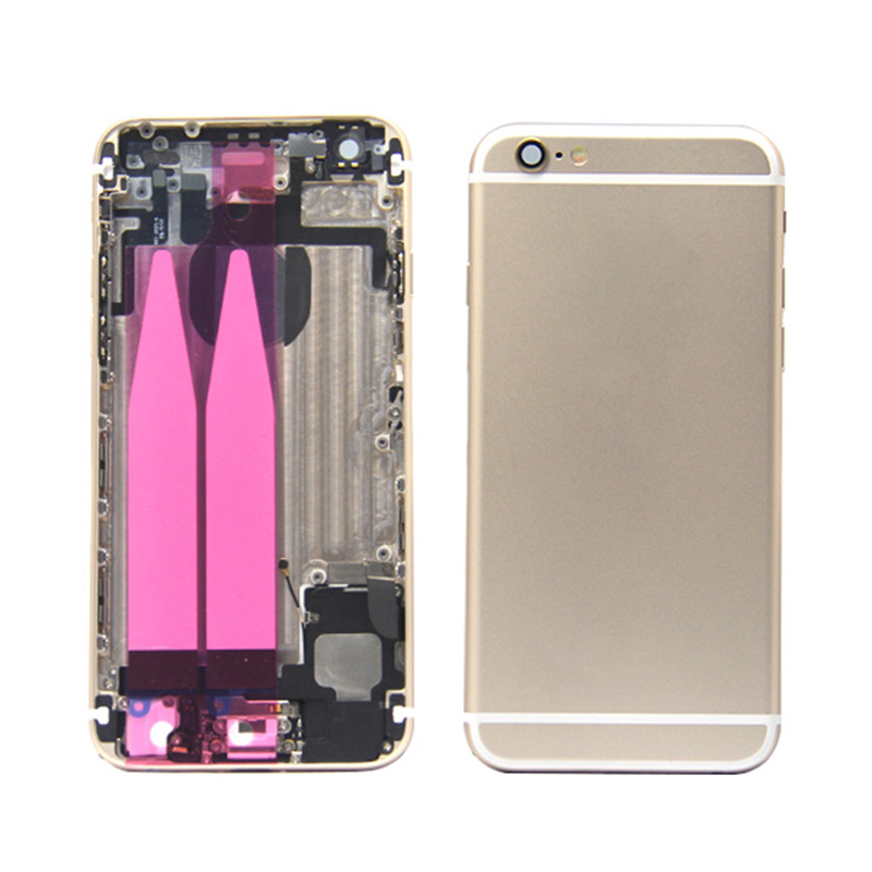 For iphone 6 rose gold housing with back cover