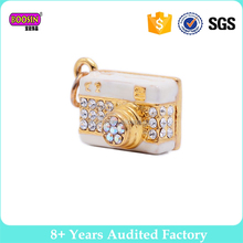 2017 wholesale crystal gold wireless hidden camera pendant