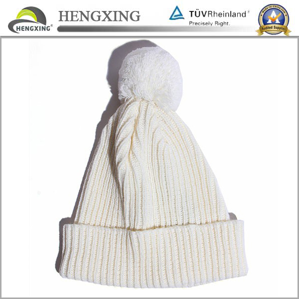 High fashion custom white winter beanie knitting patterns free