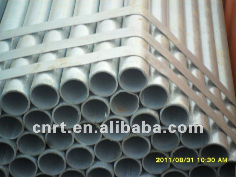 galvanized steel tubes for chain link fencing