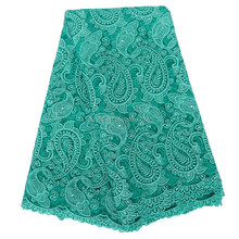 Yifangbo new design french lace for nigeria party / cord tulle lace / army green french lace for girl dress