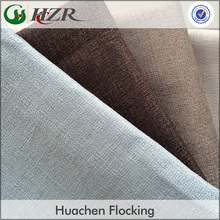 Faux Linen Polyester Hotel Used Blackout Curtain Fabric linen fabric