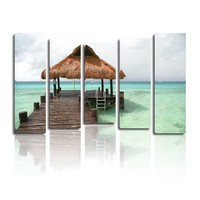 Stretched frame canvas beautiful sea scenery painting