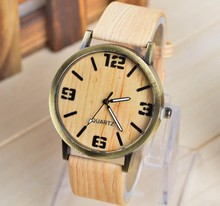 2015 charming natural wholesale wood watch vogue wrist watch for men and women
