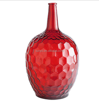 Terrarium bowl round centerpiece sodalime blown art glass vase honeycomb popular with long neck