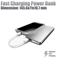 Light Weight Fast Charging Portable Mobile 5000mAh 5200mAh Metal Slim Sknny Power Bank Made in China (Silver)