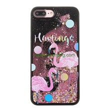 Customized tpu phone accessories mobile case phone Liquid Glitter cover for Iphone 8 7,7s,6,6s