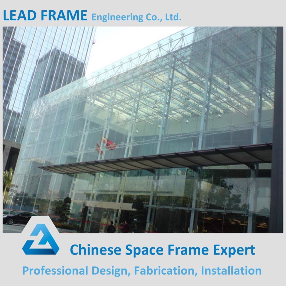Anti earthquake glass curtain wall with steel structure
