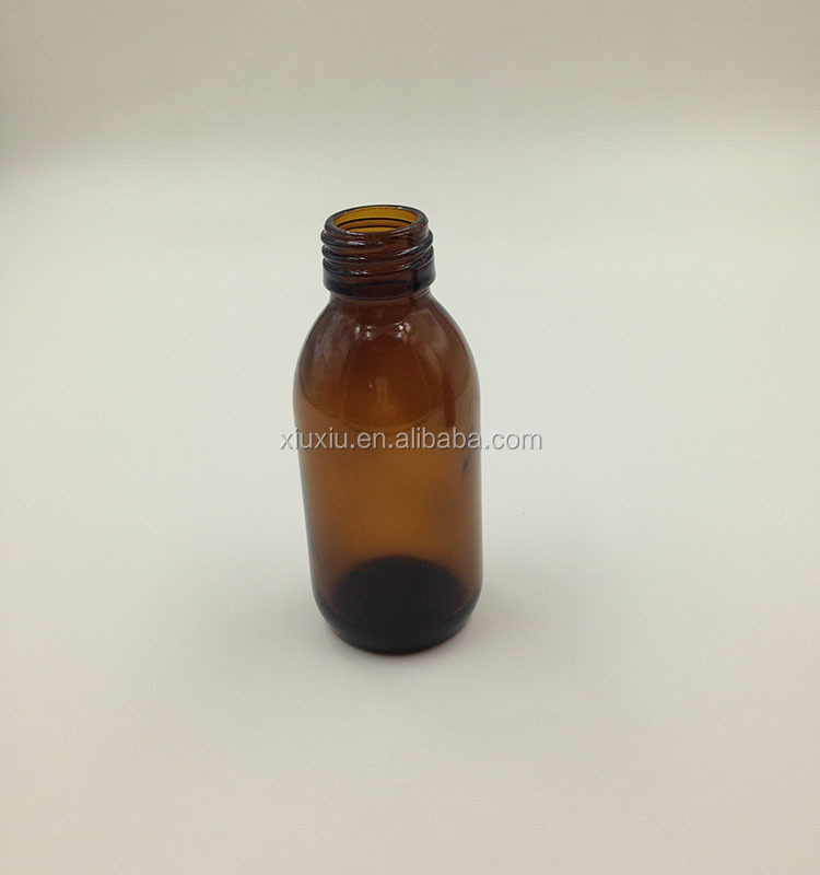 maple syrup amber glass bottle for medicine use from China factory glass syrup bottle for liquor