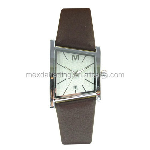 Chinese new promotion PU strap alloy case leather watch strap