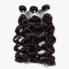 China virgin indian hair supplier mona hair wholesale unprocessed raw loose wave indian 100% pure temple hair