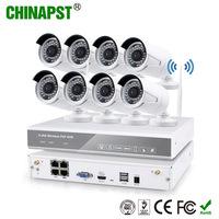 2016 Shenzhen Security 8CH CCTV Camera System waterproof Wireless wifi ip camera 8ch Wireless WIFI NVR Kit PST-WIPK08AH