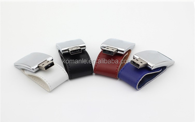 Custom logo New 4GB 8GB 16GB 32GB Leather model usb 2.0 flash memory stick pen thumb drive