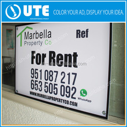 print Photographs of pvc Advertising Signs, acrylic board signs, yard signs