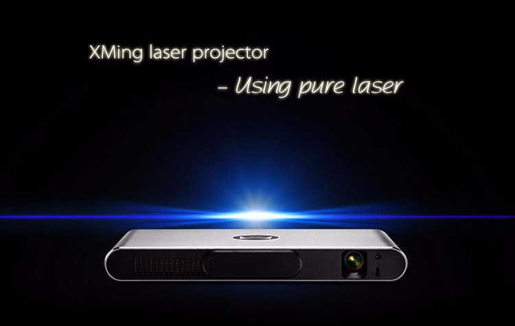 Salange New Aluminous Alloy Smart Android Wireless 3D DLP Laser Projector with 700 ANSI Lumens 5000:1