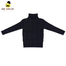 Wholesale Solid Color Warm Handmade Baby Girls Winter Sweater School Cashmere Sweater