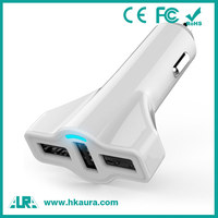 China Suppliers Wholesale OEM 3 Port USB Mobile Car Charger For Smartphone