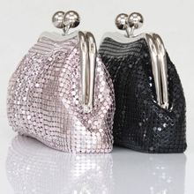 Wedding Bag Aluminium Material Fashion Evening Clutch Bags Hard Case Beaded