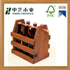 Hot sale High quality customized handmade wooden wine holder beer carrier wholesale