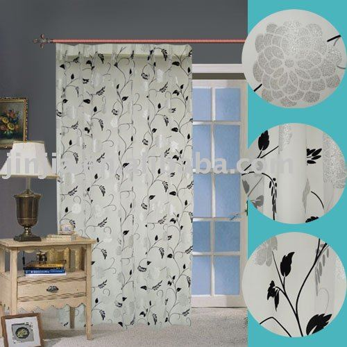 M3307 american style printed voile curtain fabric drape bathroom curtain tulle printed sheer window curtain lining