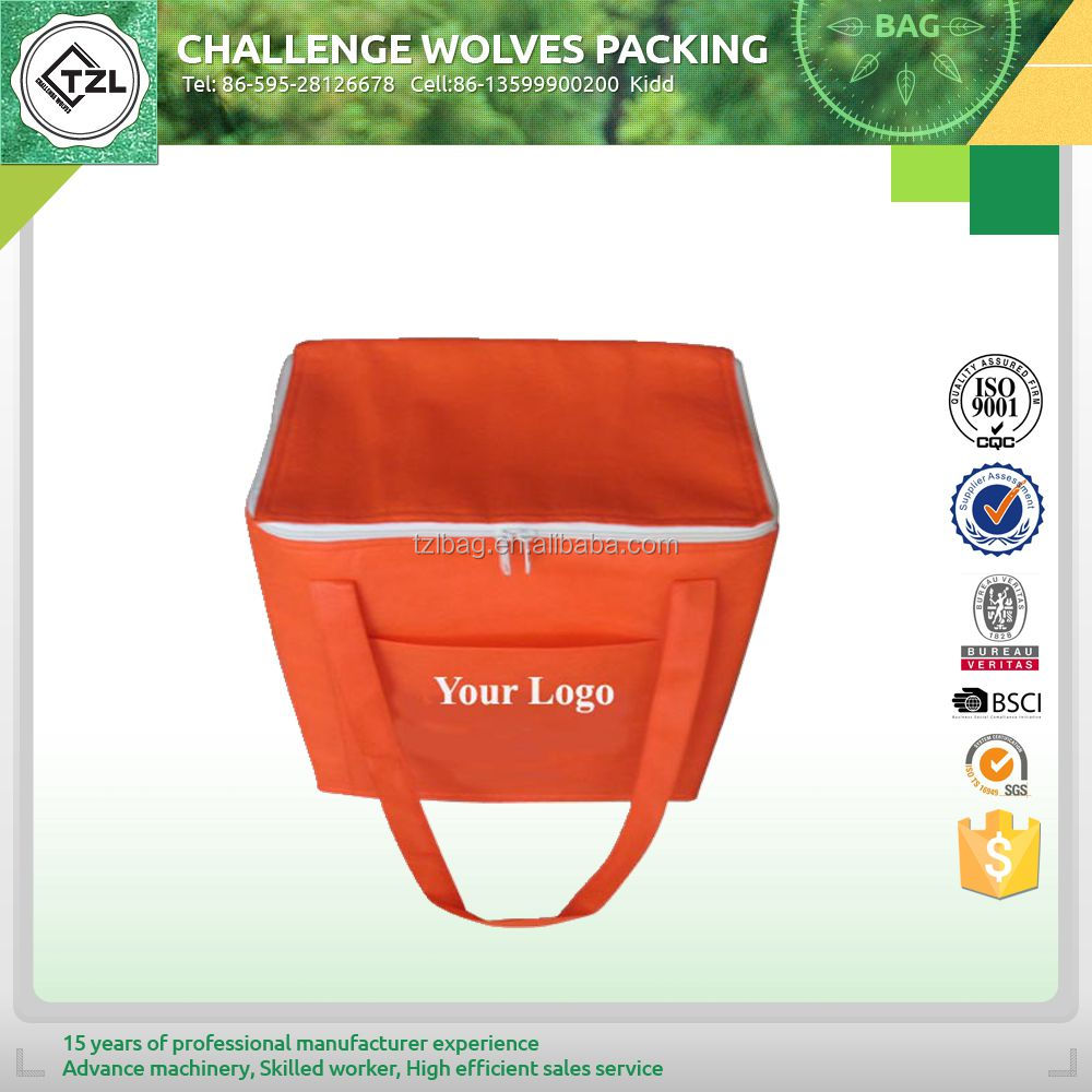 Insulated cooler bag food wine delivery