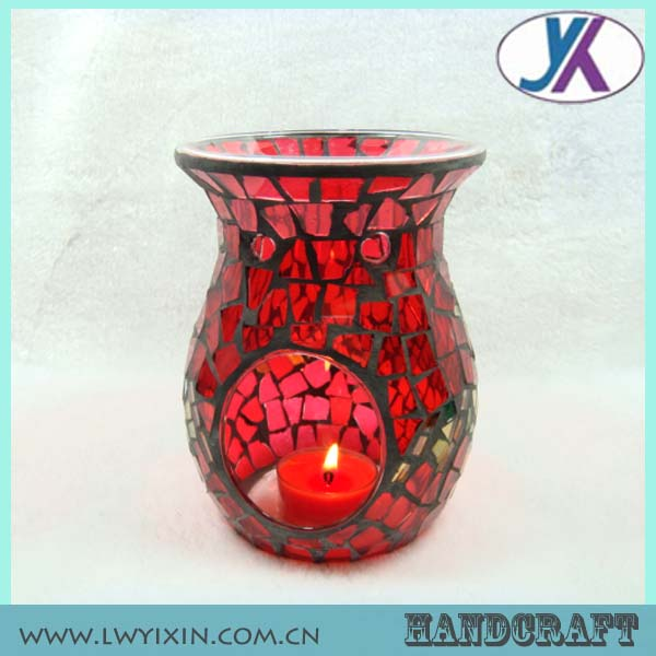 Beautiful Mosaic Glass Incense Burner-6/Candle Holder mosaic glass fragrance Oil Burner, Aroma Diffuser, Aroma Lamp-7