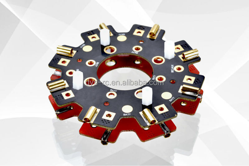 DYS Power Distribution Board(PCB board) 320A Up to 8 ESC for Octocopter OCTO Multicopter