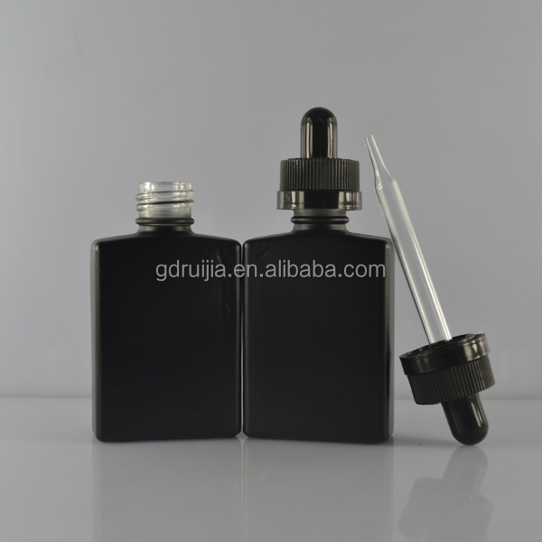 Free samples!! 15ml 30ml matte black rectangle/square glass dropper bottles for e cigarette liquid/ejuice bottles wholesale