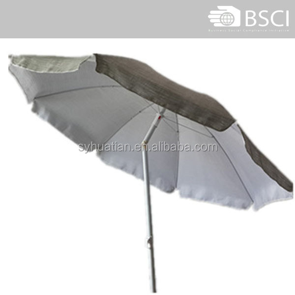 Wholesale steel frame 38 inch terylene fabric beach umbrella sun umbrella
