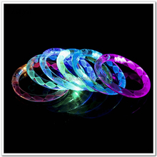 4 Color LED Flash Bracelet Sound Controlled Activated Glow Flash Bangle For Christmas Party Decor SL030