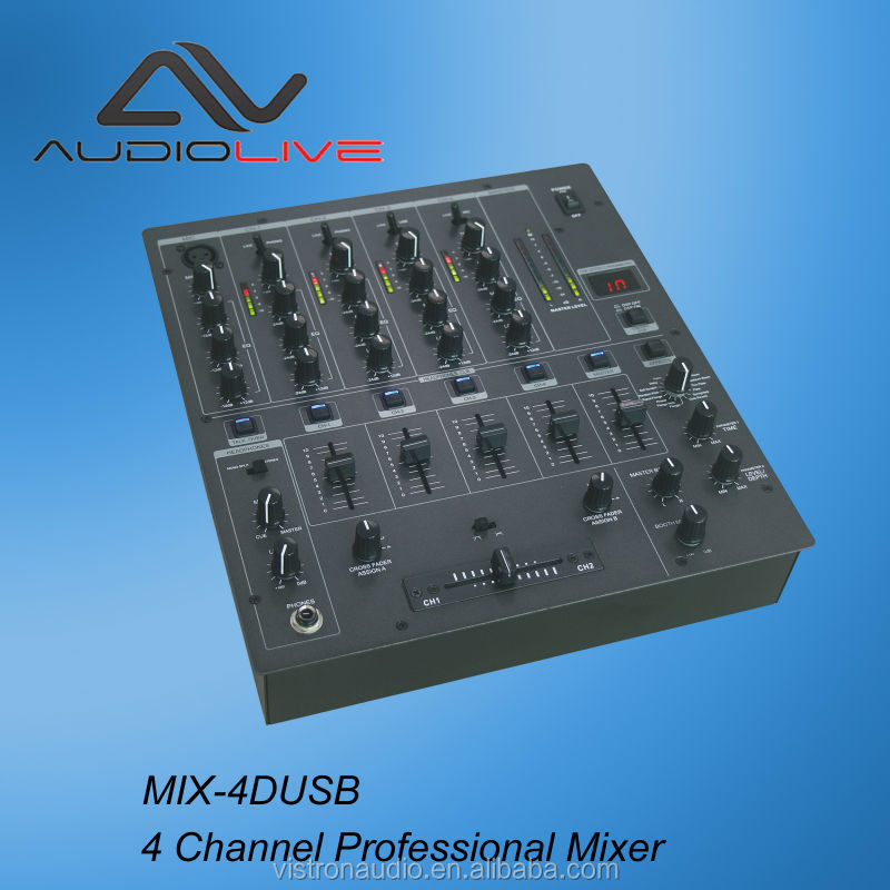 Professional power amplifier Digital Multi Player Controller 4-Channel Dj Mixer usb dj