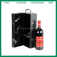 Hot Selling Leather wine box/Leather Wine Carrier