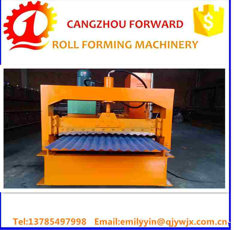 2016 Hot Sale Botou Hebei China Best Price Superior colored steel glazed tile roll forming machine profile drawing