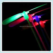 LED Luminous flying light up toys flashing Bamboo Dragonfly Electronic Cheap kids gift party decoration DHL Free Shipping