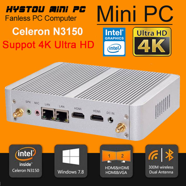 Bulk used desktop computer parts mini computer with s-video port for kids with DDR3L 8G RAM 256G SSD