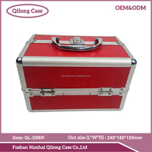 aluminum metal cosmetic tool set case portable double open makeup cases